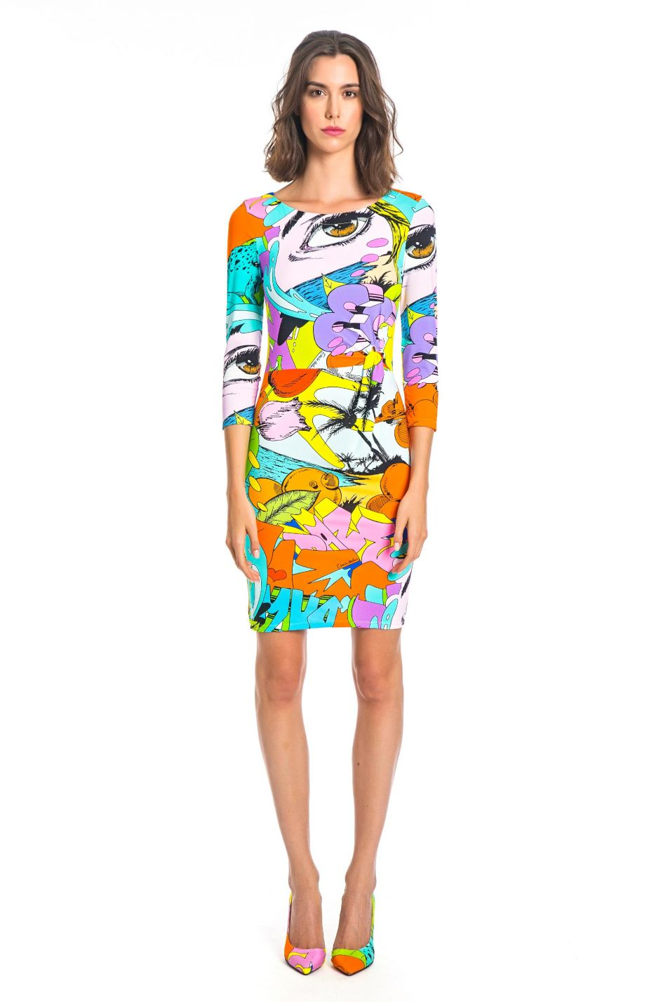 DAZE PRINT KNOT DRESS